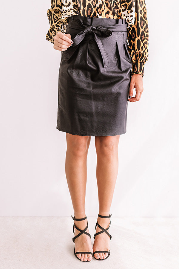 Party Hopping High Waist Faux Leather Skirt