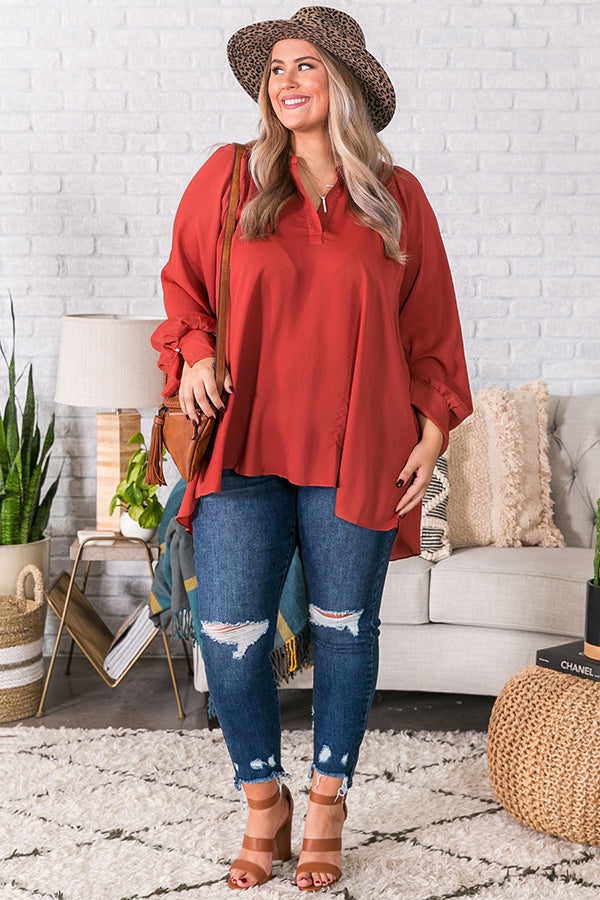 Livin' Luxe Shift Top in Aurora Red