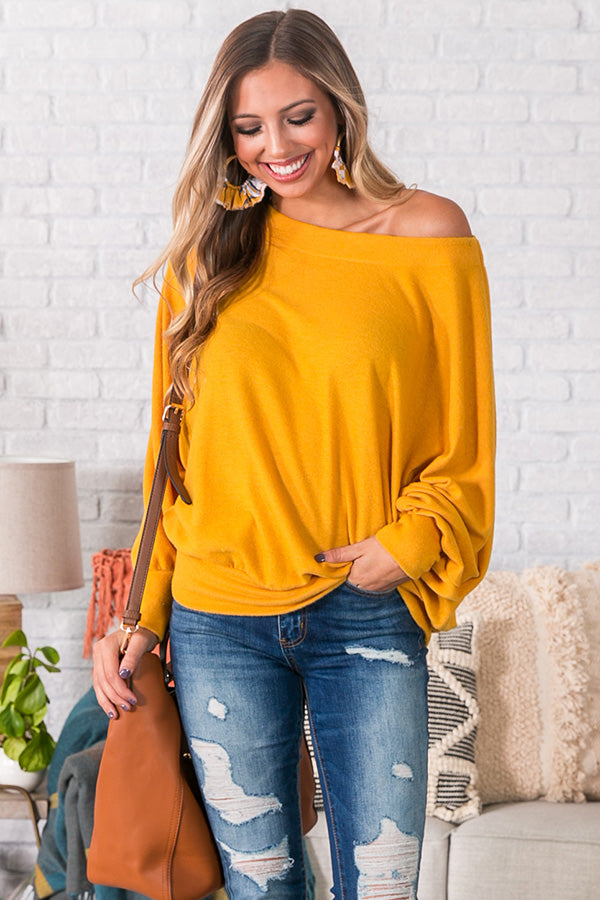 Apple Cider Chic Top in Marigold