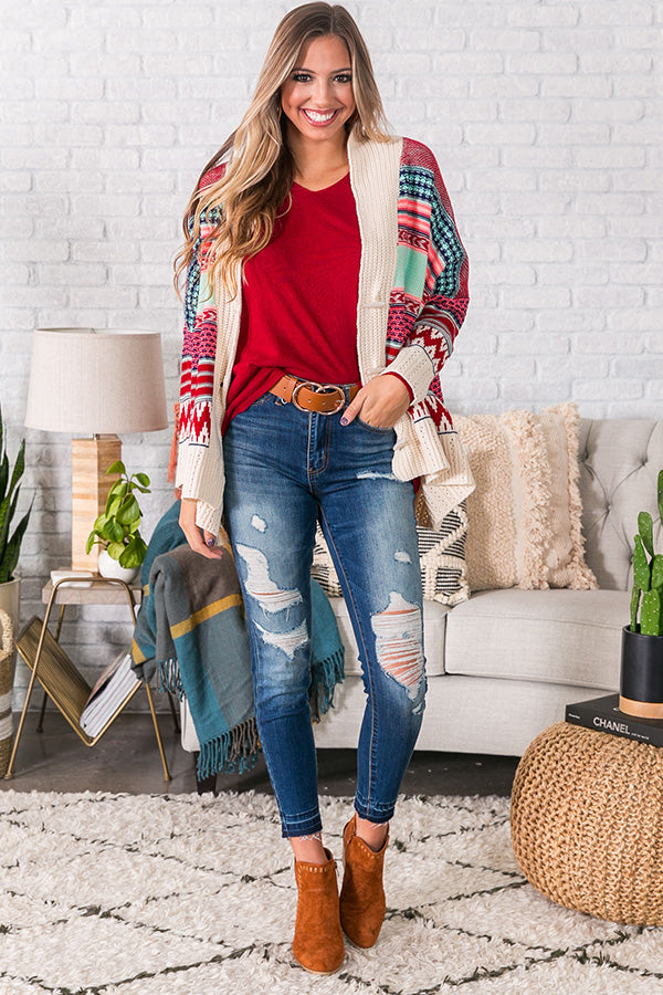 Wrapped In Winter Knit Cardigan