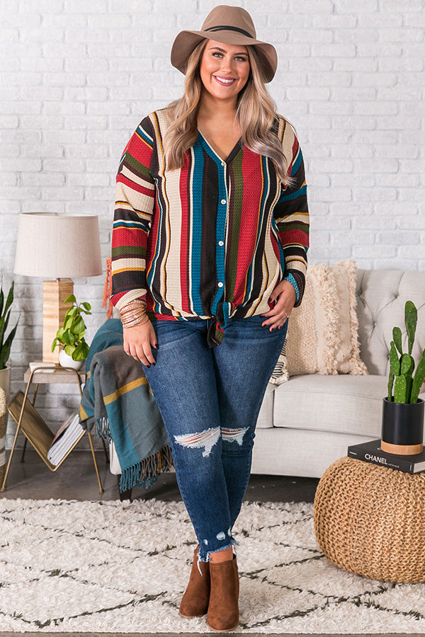 Cider and Smiles Stripe Top