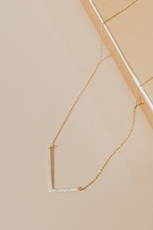 Jet Set Bliss Initial Necklace