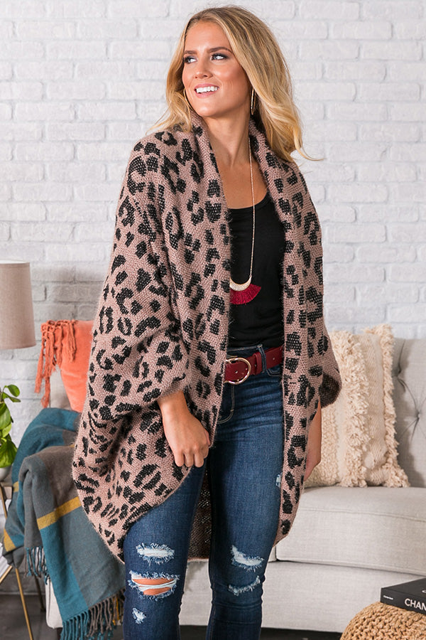 Spotted In The City Leopard Cardigan