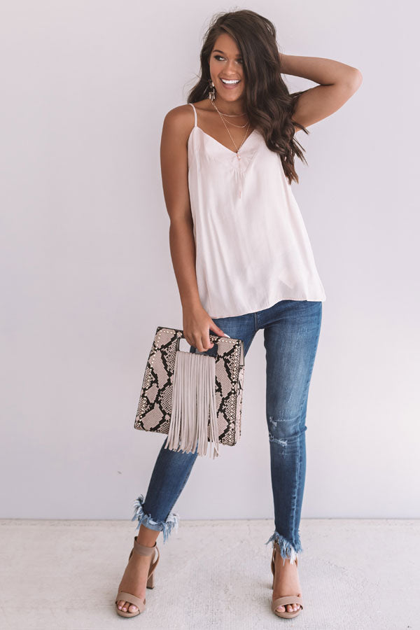 Delicate Subject Shift Tank in Blush