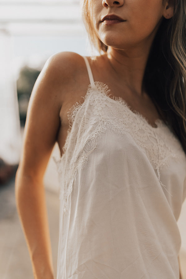 Everlasting Love Lace Tank In Cream