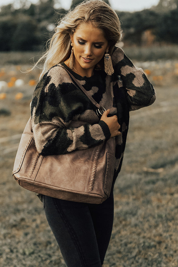 Under Cover Cozy Camo Shift Sweater