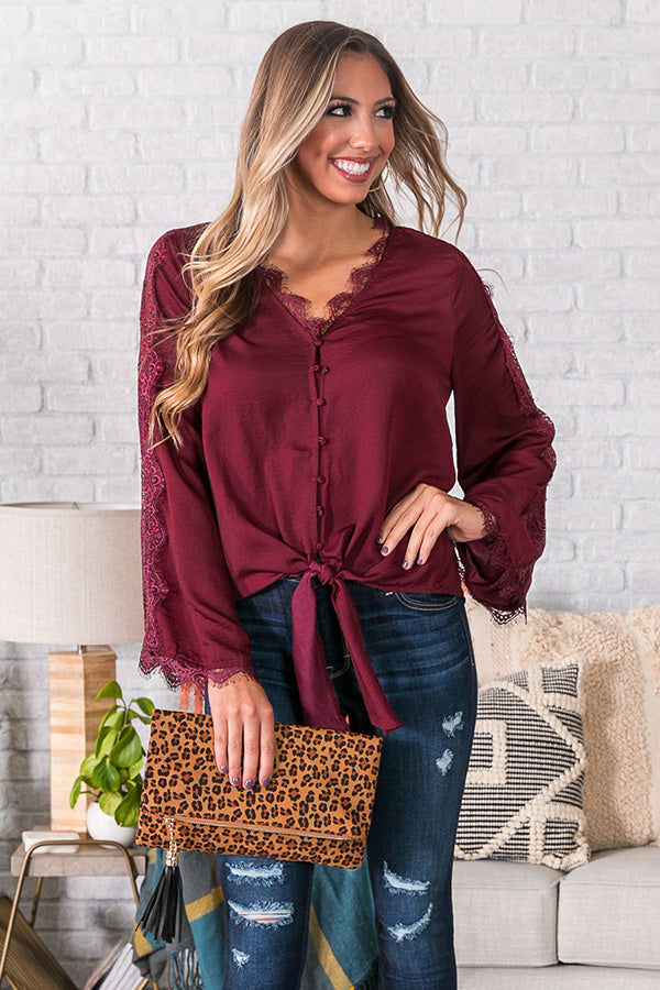 Celebrations In The City Shift Top In Merlot