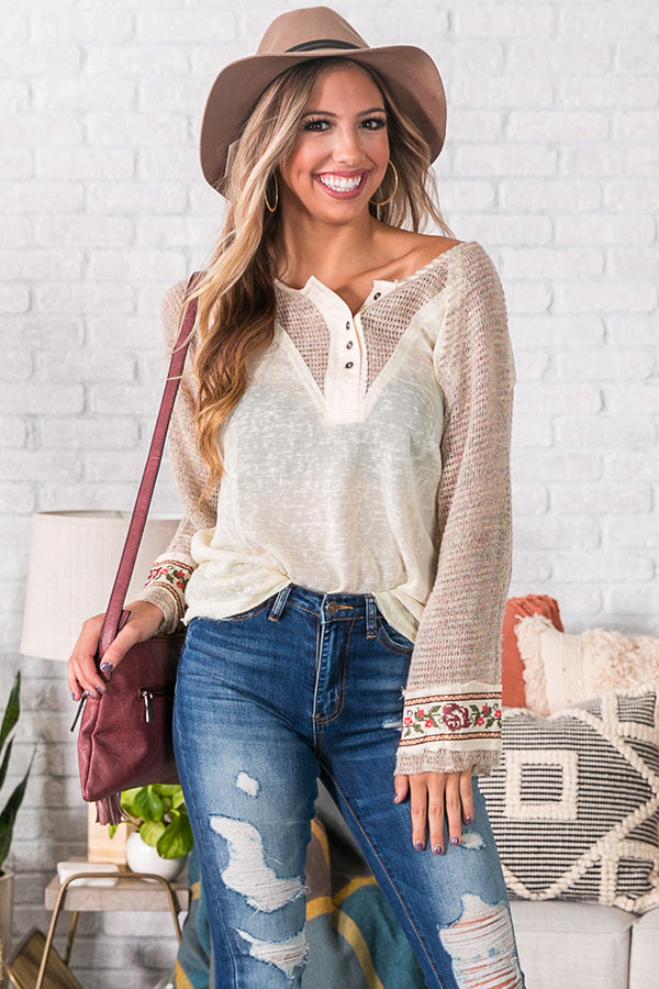 Campfire Casual Shift Top