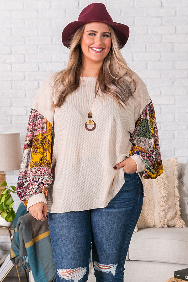 Sipping In Sonoma Waffle Knit Shift Top