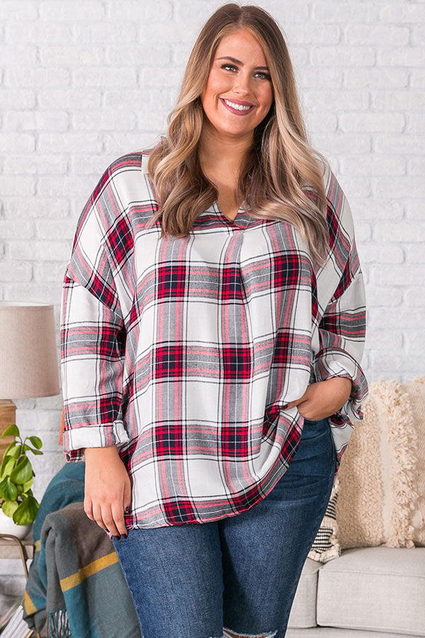 Wondering Westward Shift Tunic In Red