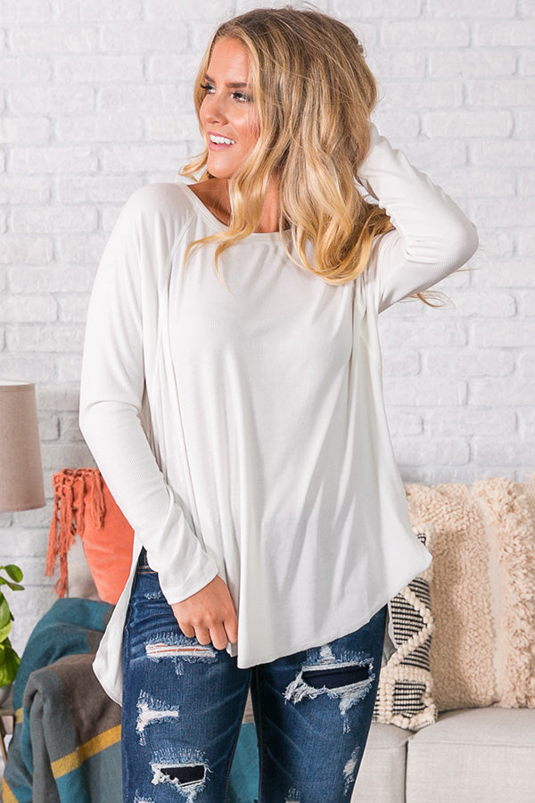 Beyond Blissful Shift Top in Ivory