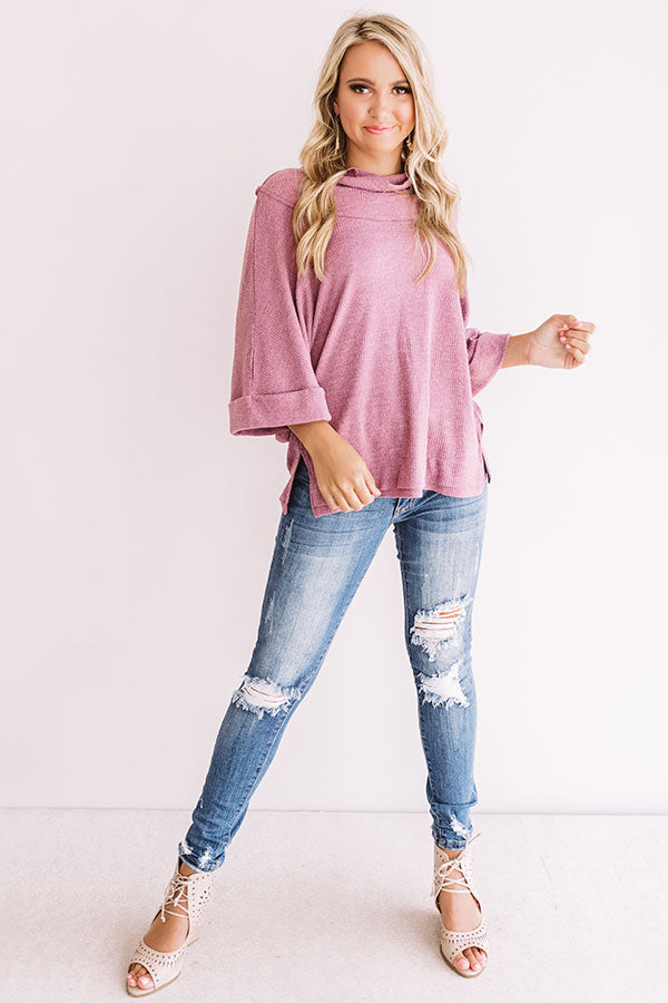 Girls Night Shift Top in Vineyard Grape