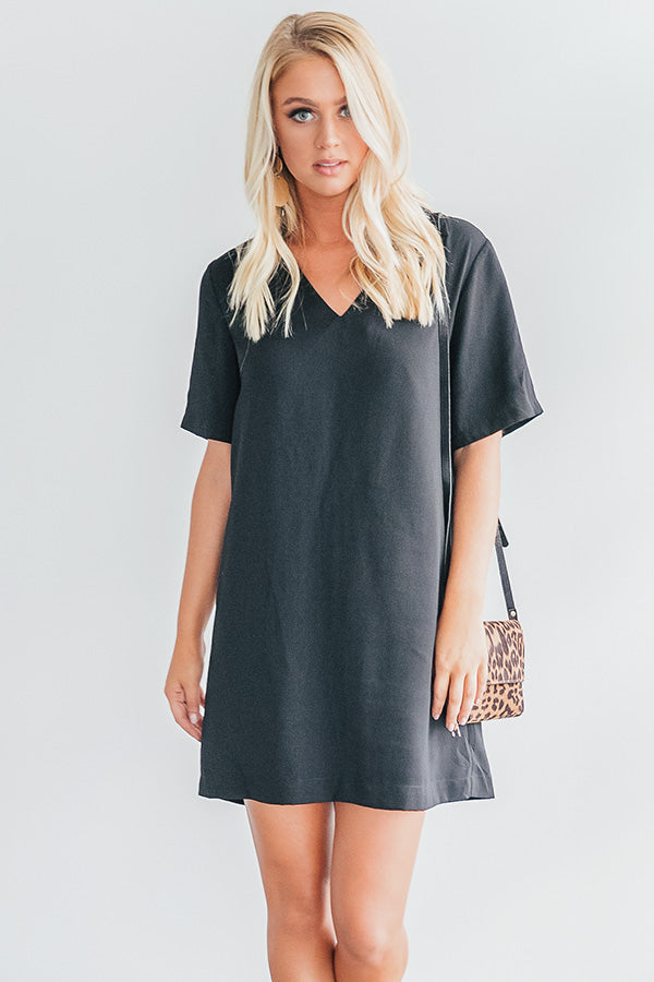 Forget Me Not Shift Dress In Black