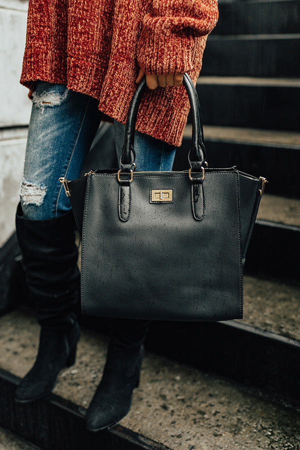 The Chandler Tote in Black