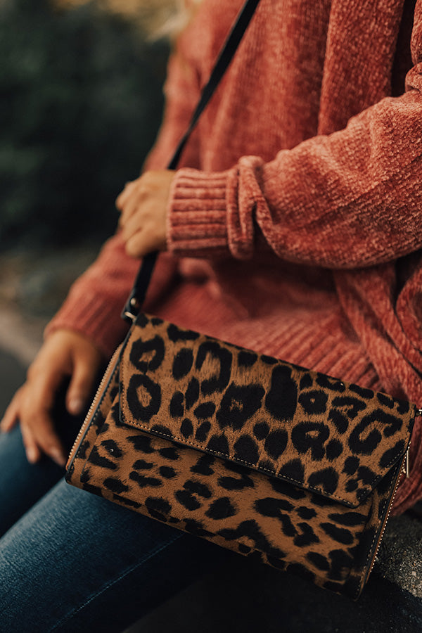 On The Run Leopard Clutch