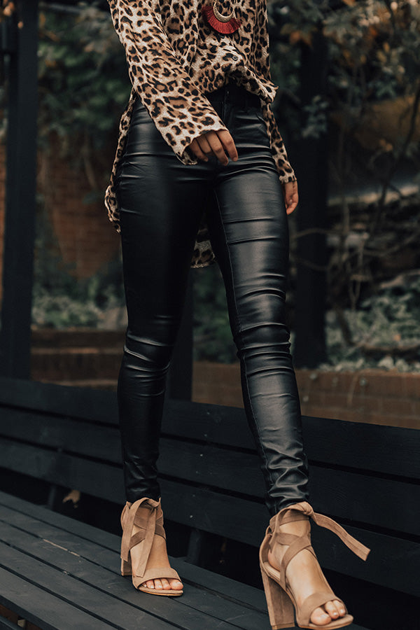 The Gwen High Waist Faux Leather Skinny