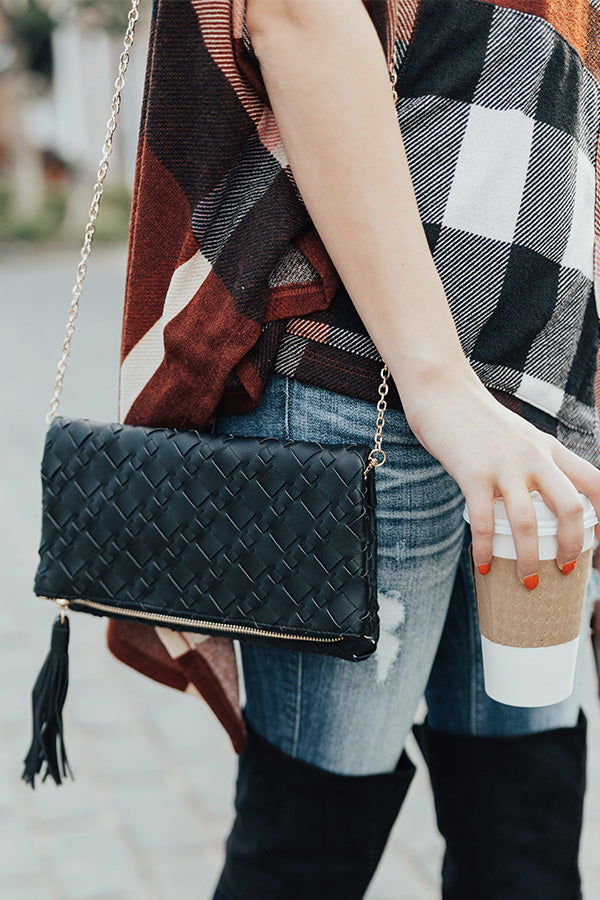 Had Me At Happy Hour Clutch in Black
