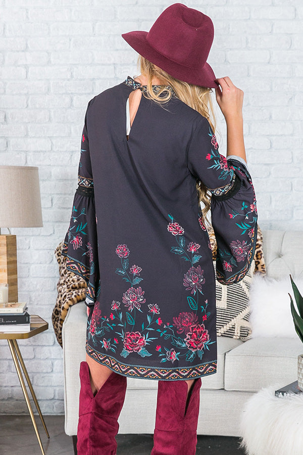 Queen Of Style Floral Shift Dress