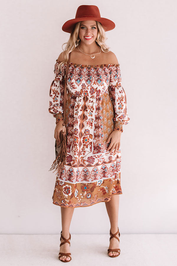 Party On Park Avenue Paisley Midi Dress