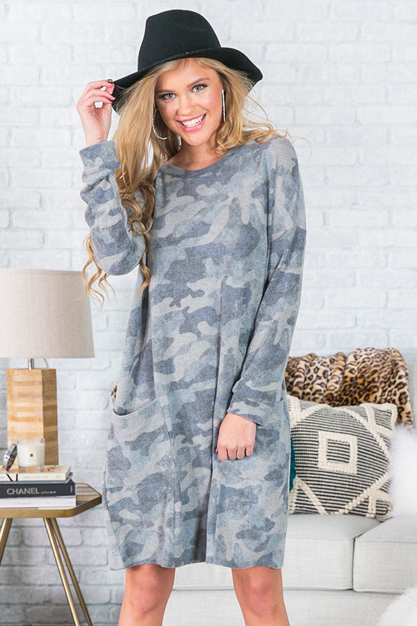 Too Cute To Handle Camo Dress