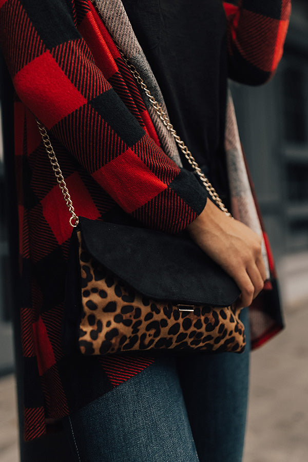 Vegas Vibes Leopard Clutch in Tan