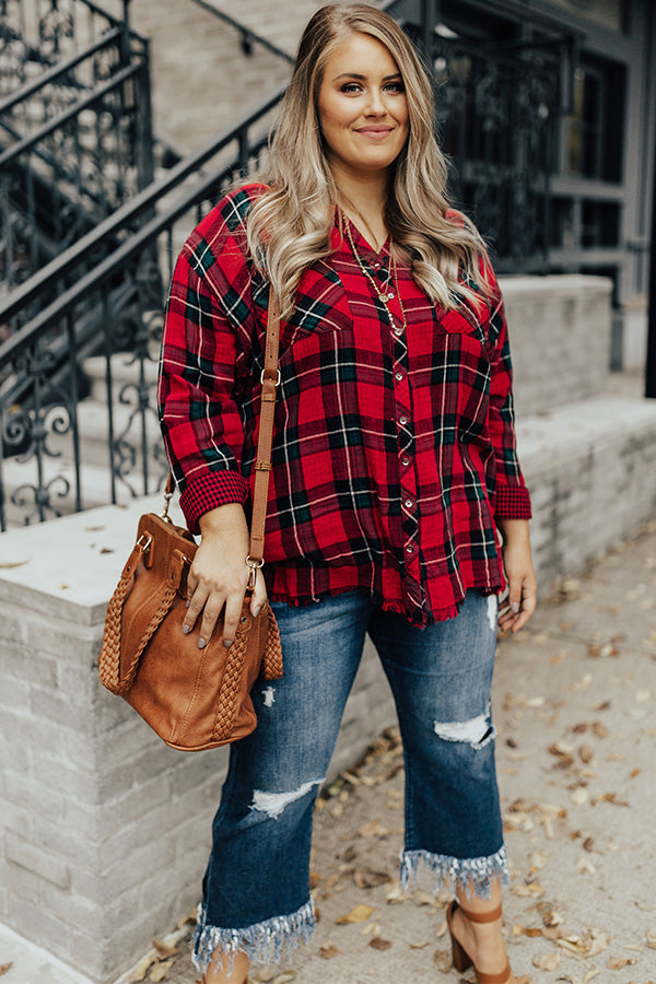 Weekend In The Alps Plaid Top