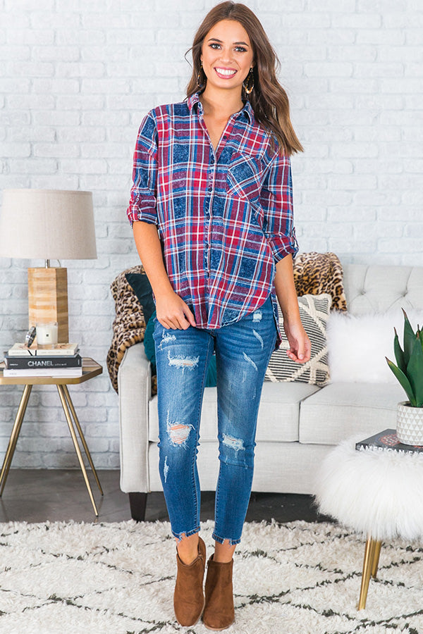 Lodge Vibes Plaid Top