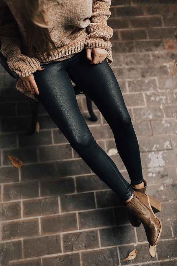 The Rhiannon Faux Leather High Waist Legging