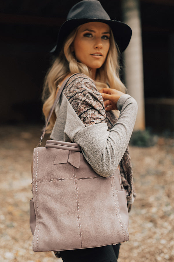 A-Lister Backpack in Dusty Purple