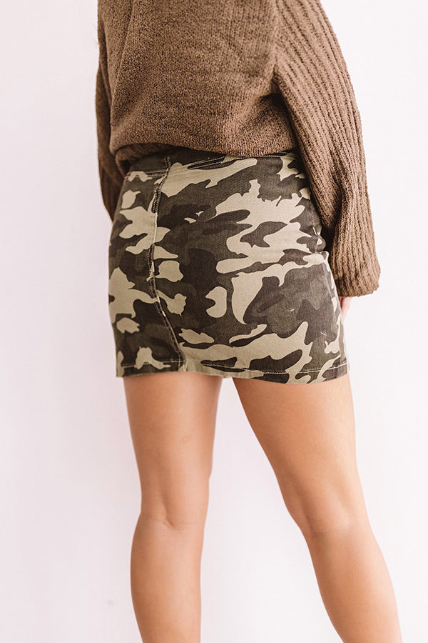 Camo Sweetheart Mini Skirt