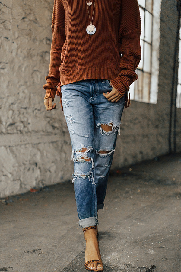 The Bradley Midrise Distressed Relaxed Jean