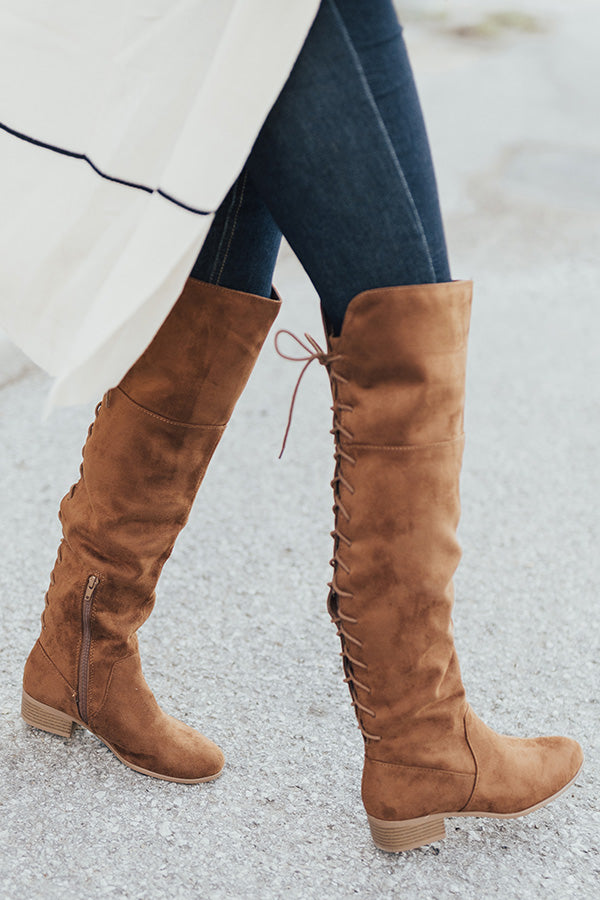 The Victoria Thigh High Boot In Brown