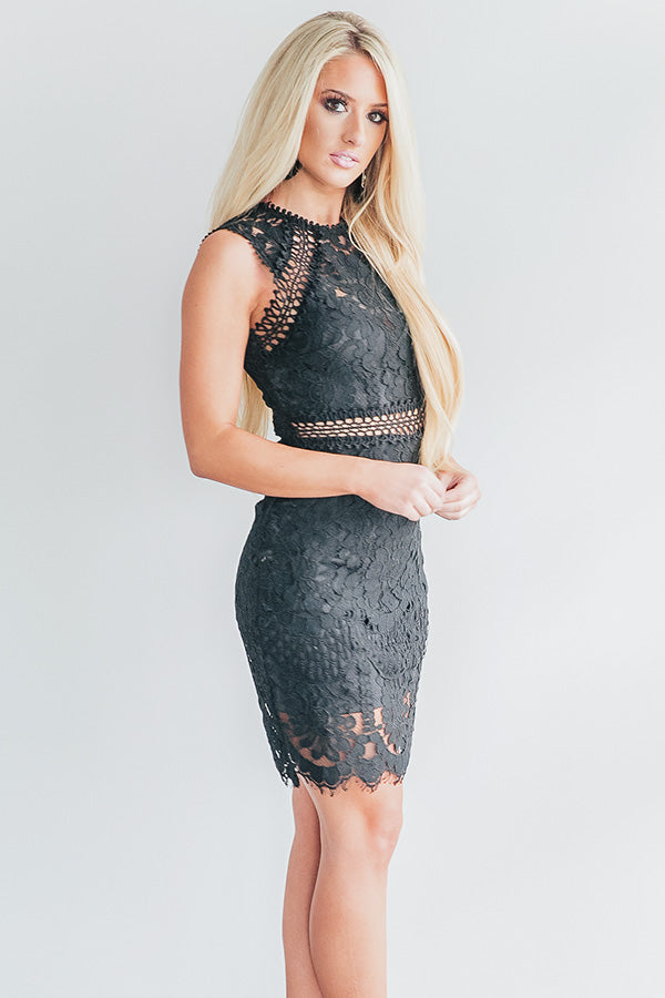 Tonic Time Lace Dress in Black