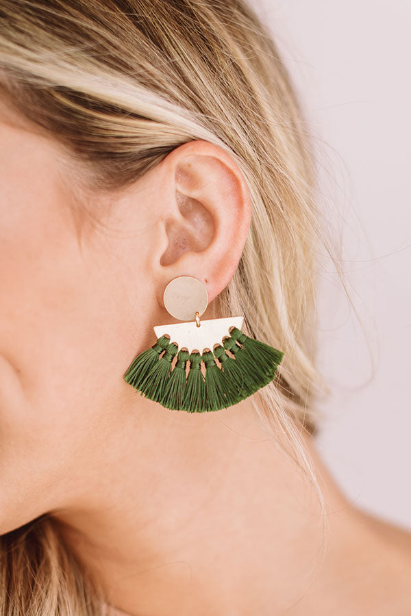 Soho Shine Tassel Earrings