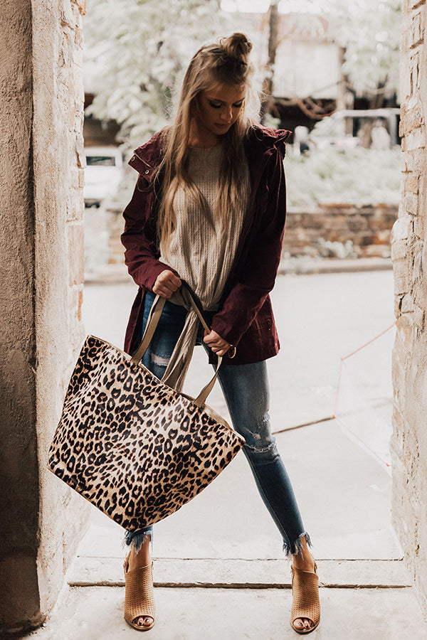 Leopard So Chic Tote in Gold