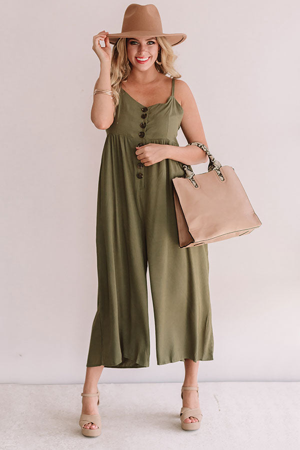 Vip Ticket Jumpsuit In Olive