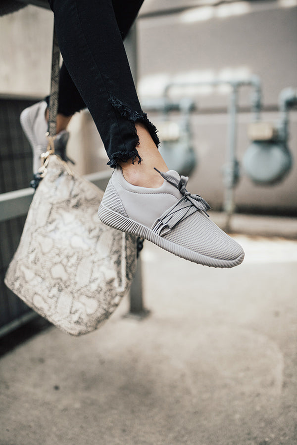 The Adrian Sneaker In Grey