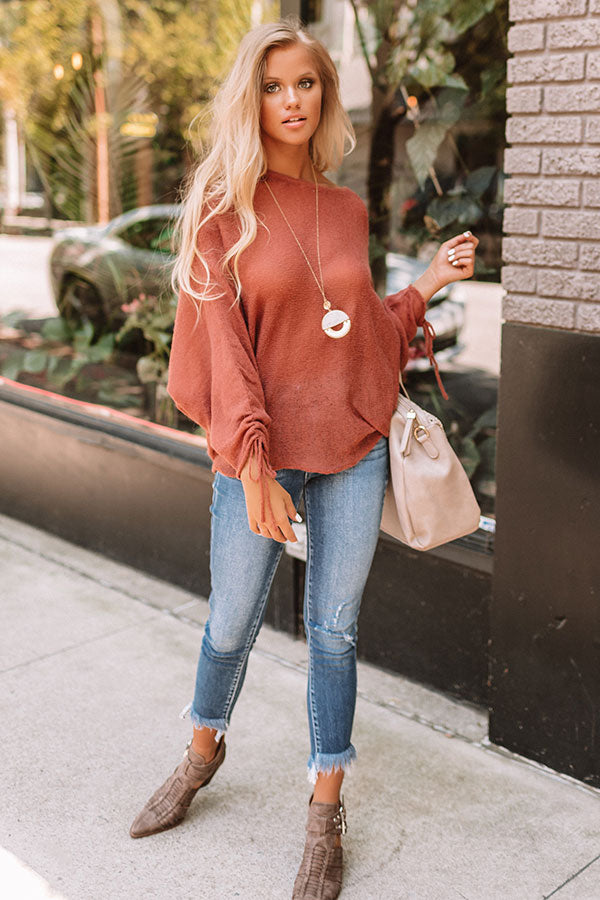 Lattes At The Lakehouse Shift Top In Rustic Rose