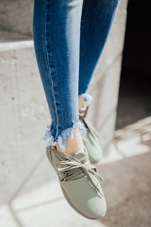 The Adrian Sneaker In Sage