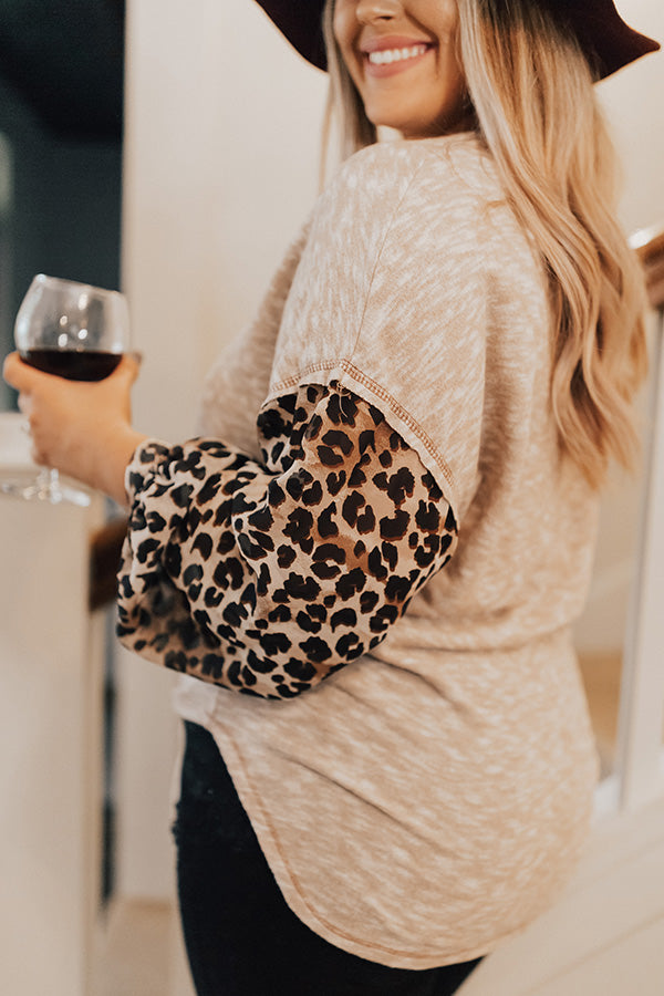Latte Run Shift Top in Leopard