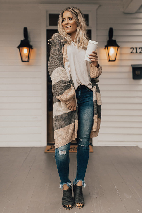 Makin' Time For Cocoa & Cuddles Color Block Cardigan