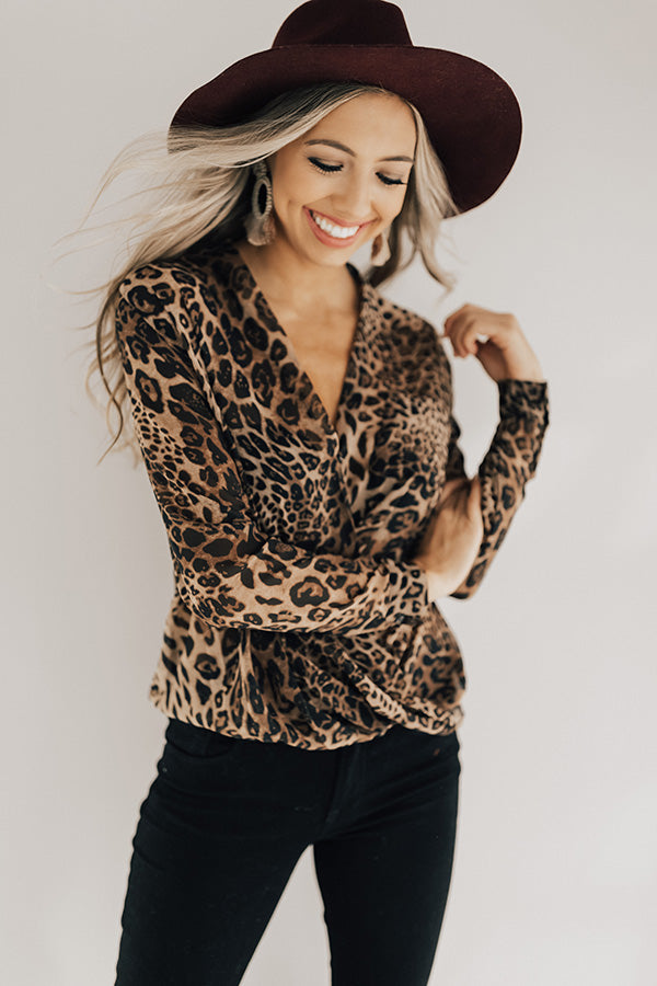 Luxe Times Leopard Shift Top