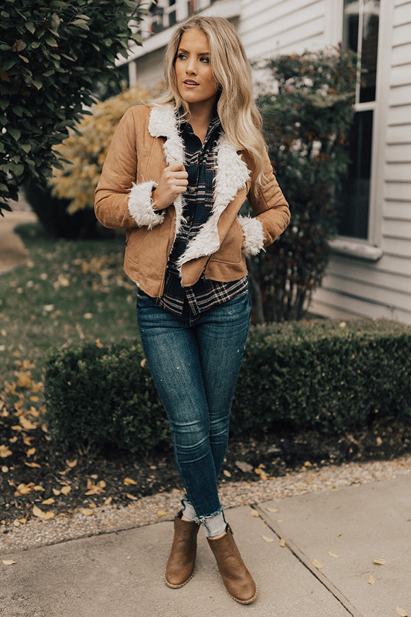Cozier In Colorado Faux Suede Jacket