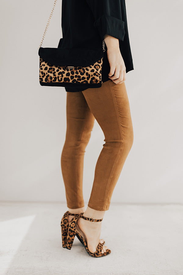The Calvin Faux Suede High Waist Skinny In Camel