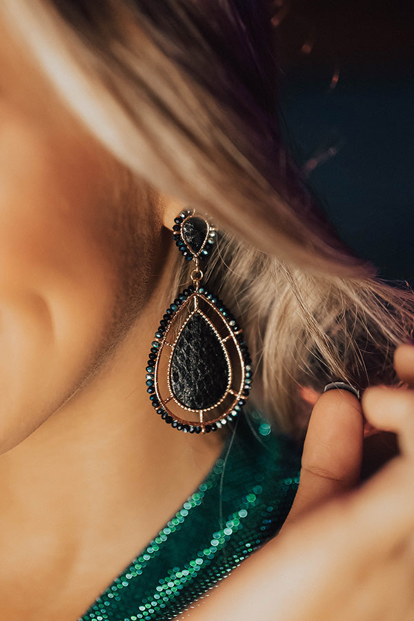 Luxe Times Earrings In Black