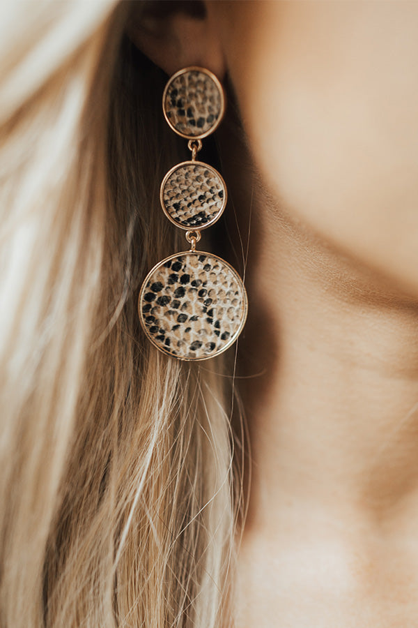 Central Park Sights Snake Print Earrings