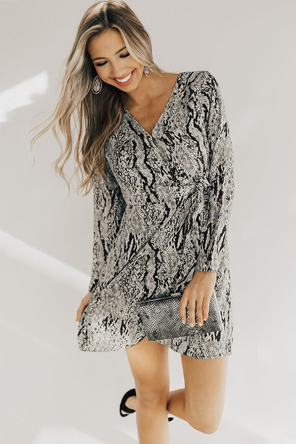 Shopping In The City Snake Print Dress