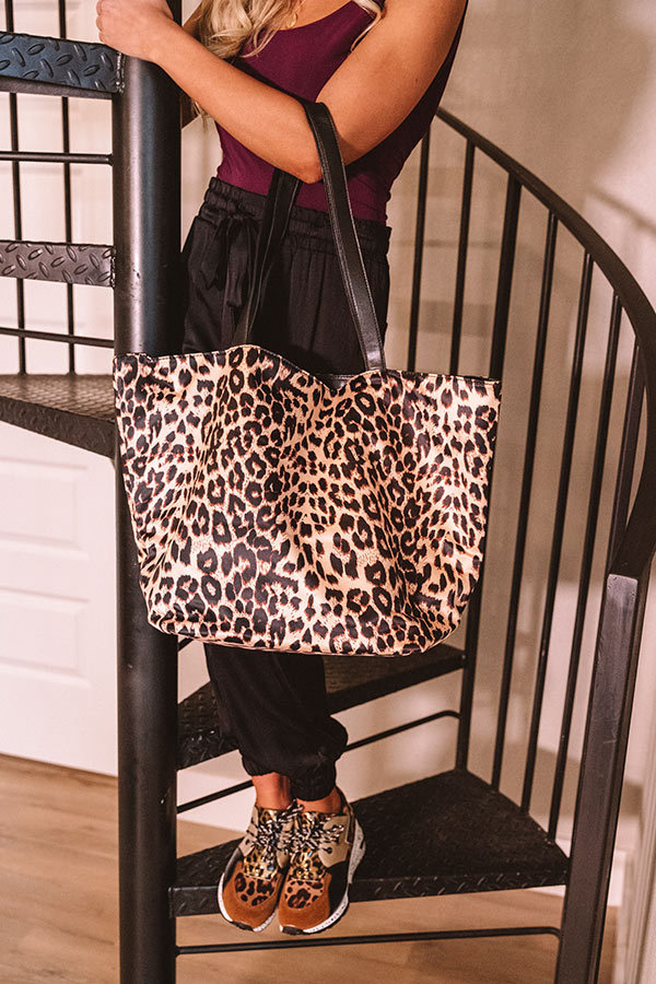 Leopard So Chic Tote in Black