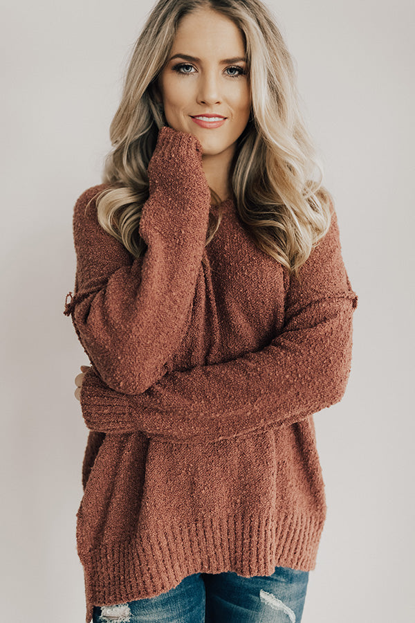 That Cozy Feeling Shift Sweater In Rustic Rose