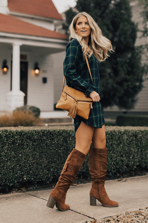 Forever Favorite Plaid Dress In Green
